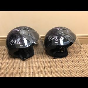 Harley Davidson his and her helmets